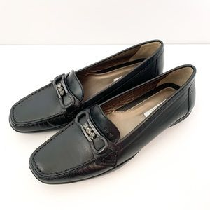 GEOX Respira Black Loafers/Flats Size 6